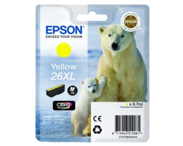 Epson 26XL / T2634 Geel (origineel)