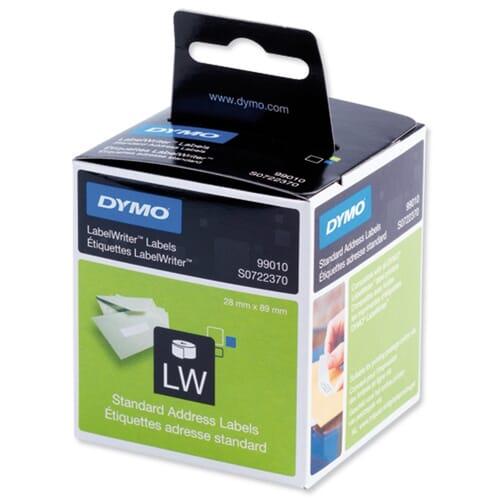 Dymo Labelprinter 130 Adresetiketten 89x28mm 2 Rollen