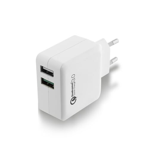Ewent 2-Poorts USB Lader 4A met Quick Charge 3.0