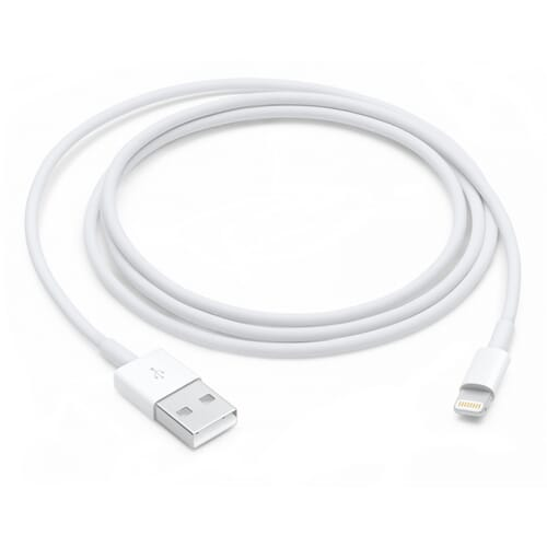 Apple Lightning naar USB 2.0 A Kabel 1 Meter - Wit