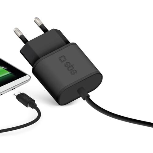 SBS Mobile Thuislader USB Type-C 3.0A - Zwart
