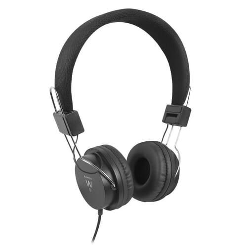 Ewent Opvouwbare On-Ear Koptelefoon - Zwart