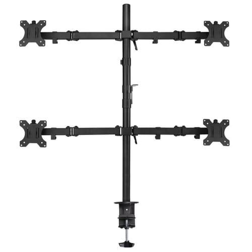 Ewent Monitor Bureausteun voor 4 LCD tot 32 Inch - Zwart