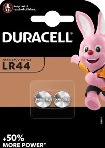 Duracell Electronics LR44 Alkaline Knoopcel 2 Stuks Blister