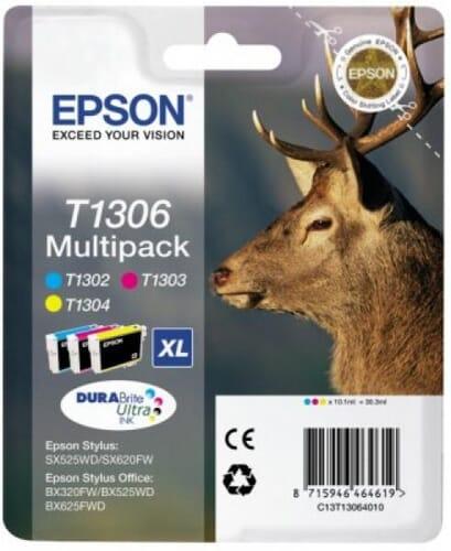 Epson T1306 Kleur (3 Pack) (Origineel)