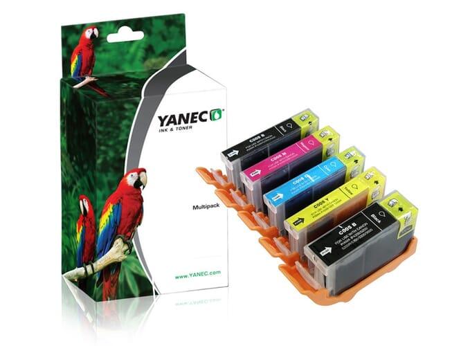 Canon PGI-5 + CLI-8 Zwart en Kleur (5-Pack)(Yanec)