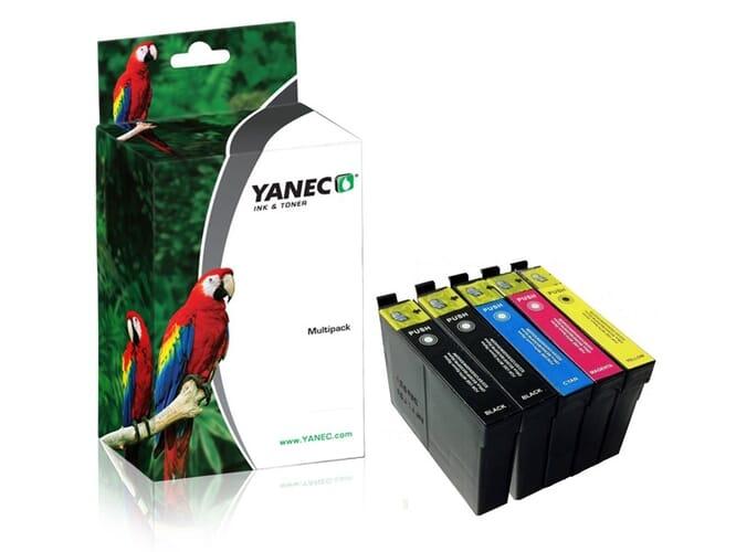 Epson T1306 Zwart en Kleur (5-Pack)(Yanec)
