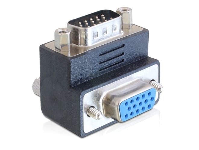 Delock Adapter VGA male / female 90 angled