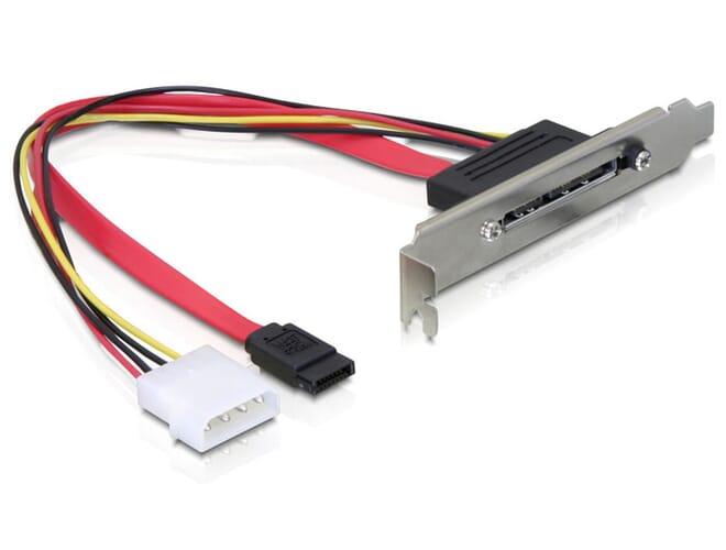 Delock Slot bracket internal SATA > SATA 22 pin