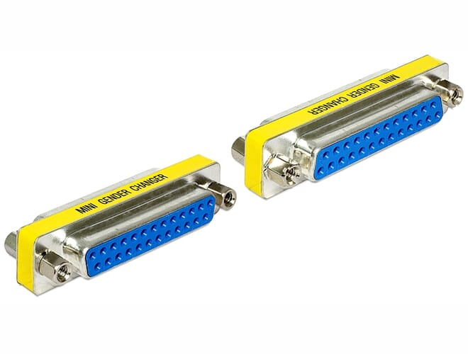 Delock Adapter Sub-D 25 pin female > female Gender Changer