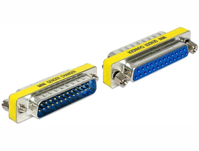 Delock Adapter Sub-D 25 pin male > female port saver