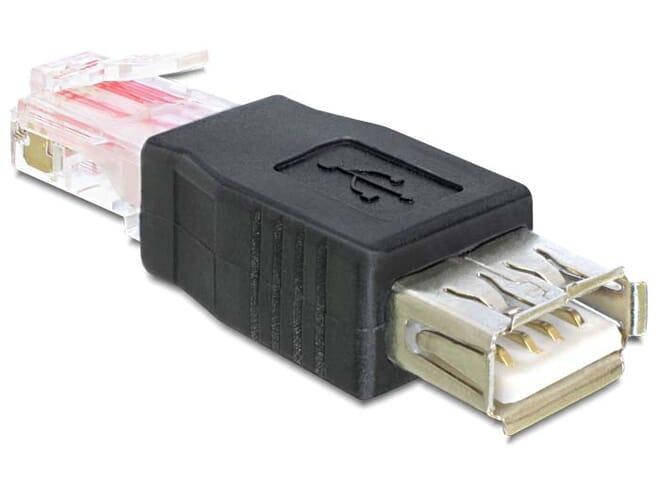 Delock Adapter USB female > RJ45 male