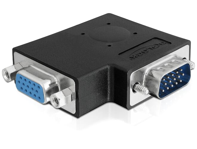 Delock Adapter VGA male / female 90 sideways angled