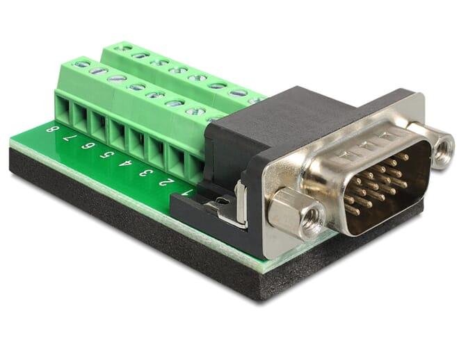 Delock Adapter VGA male > Terminal Block 16 pin