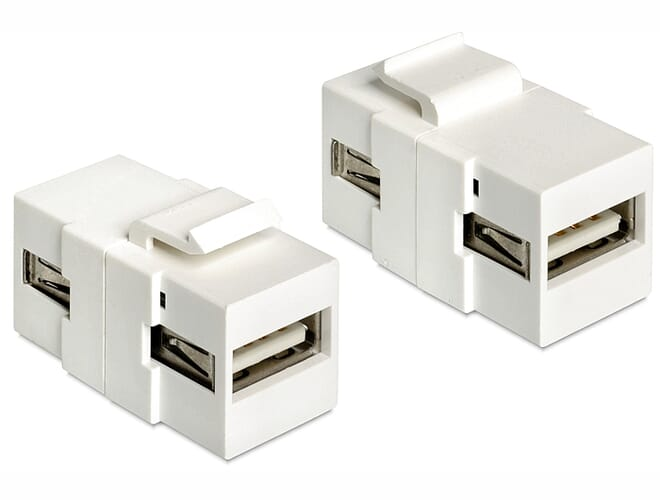 Delock Keystone module USB 2.0 A female > USB 2.0 A female