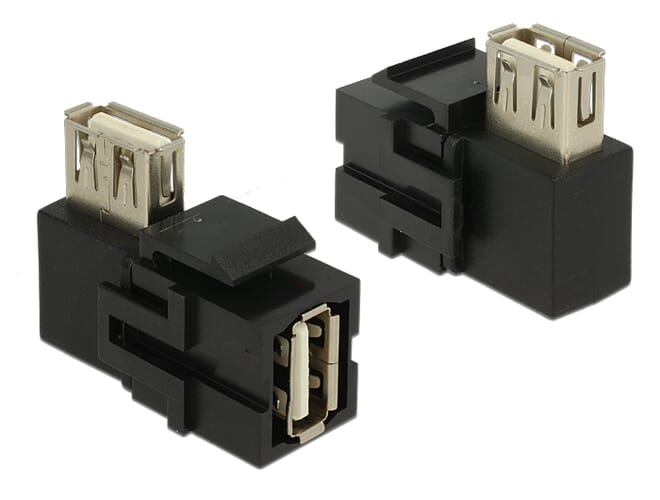 Delock Keystone Module USB 2.0 A female > USB 2.0 A female 9