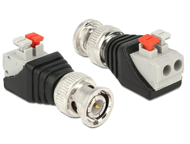 Delock Adapter BNC male > Terminal Block with push button 2