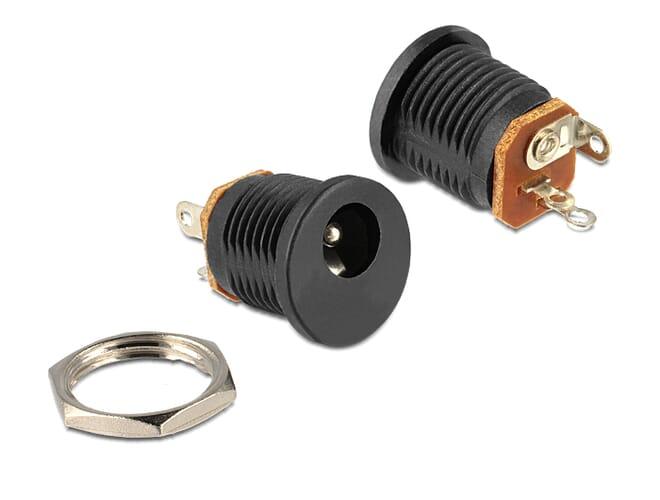 Delock Installation socket DC 2.1 x 5.5 mm