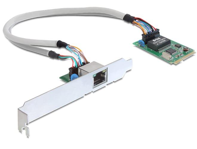 Delock MiniPCIe I/O PCIe full size 1 x Gigabit LAN