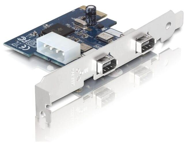 Delock FireWire A 2 Ports IEEE 1394a PCI Express Card