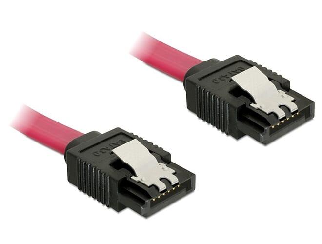 Delock Cable SATA 6 Gb/s 70cm straight/straight red