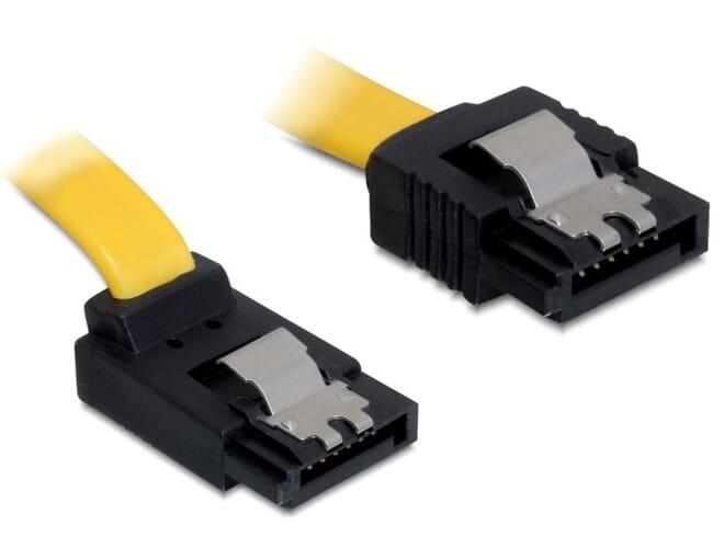 Delock Cable SATA 6 Gb/s up/straight metal 30 cm