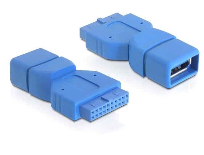 Delock Adapter USB 3.0 pin header 19 pin female > USB 3.0-A