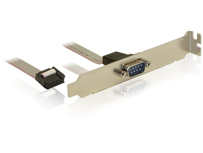 Delock Slot Bracket > 1 x Serial Pin layout: 1:1