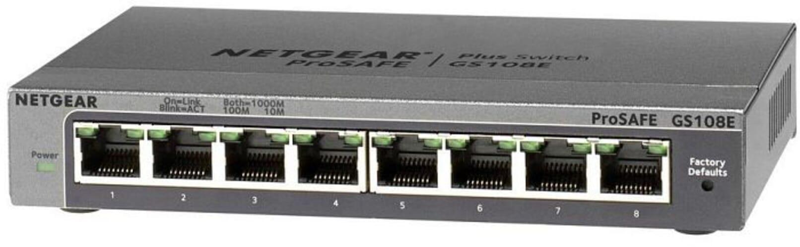 Netgear ProSAFE Plus 8-poorts Gigabit Netwerk Switch