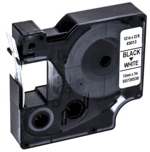 Dymo S0720530 tape zwart op wit 12 mm