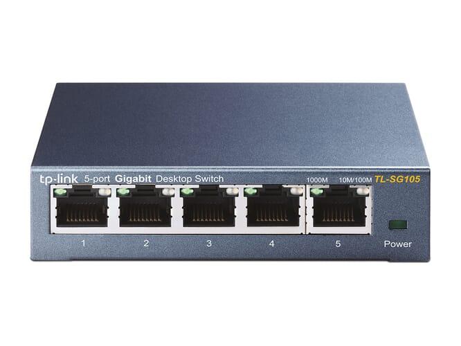 TP-Link TL-SG105 5-Poorts Gigabit Netwerk Switch - Grijs