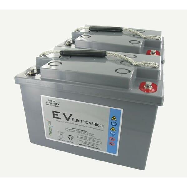 Dyno Gel Accu 12V 75Ah Vervangingsset (Excl. Kabels) voor Sunrise Medical Sterling Elite 2 Plus