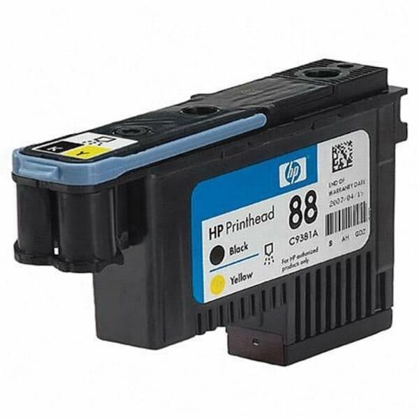 HP 88 Printkop Zwart/Geel