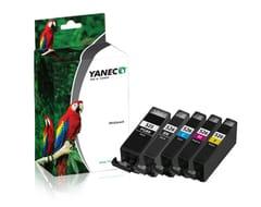 Canon PGI-525 + CLI-526 Schwarz und Farbe (5-Pack)(Yanec)