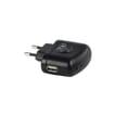 Reisestecker USB EU schwarz 5V - 1A