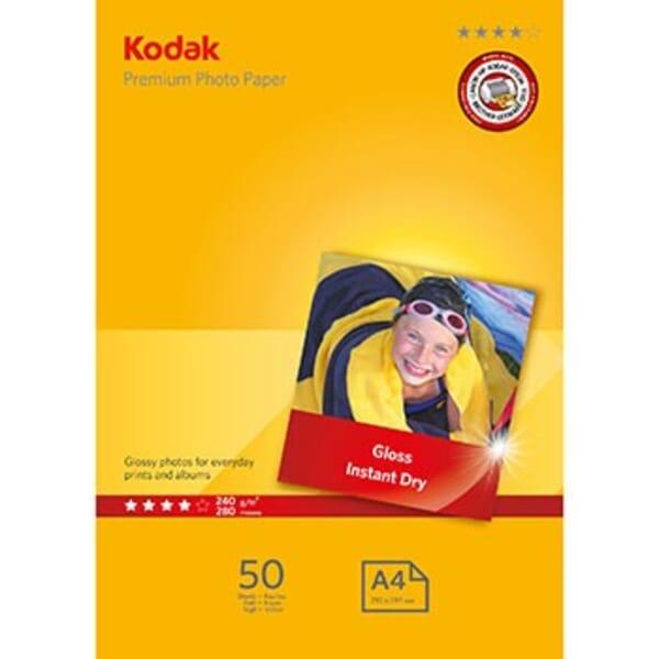 Kodak Premium Glanzend Fotopapier 50 Vel A4 voor Brother HL-2240