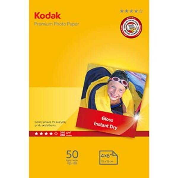 Kodak Premium Glanzend Fotopapier 50 Vel A6 voor Brother HL-2240