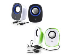 Ewent Speaker set 2.0 USB powered Zwart/Wit
