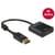 Delock Displayport1.2 Man naar HDMI 4K Vrouw Adapter 0.2m