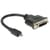 Delock Adapter HDMI Micro-D Stecker > DVI 24+5 Buchse 20 cm