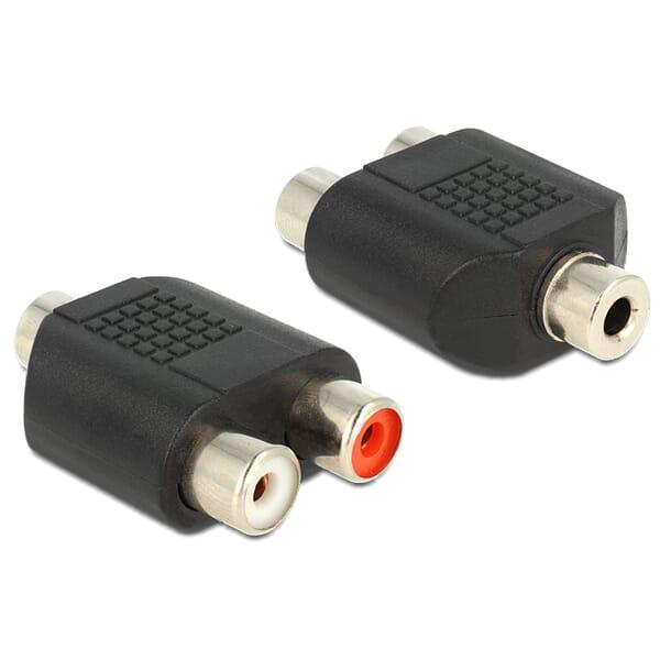 Delock Audio Stereo Jack 3.5mm naar 2xRCA Vrouwelijk Adapter