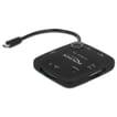 Delock Micro USB OTG kaartlezer + 3 poorten USB Hub