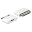 Delock 30-pin Male naar USB 2.0 Micro B Female Adapter - Wit