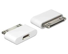 Delock 30-pin Male naar USB 2.0 Micro B Female Adapter - Wit