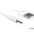 Delock USB-A naar Stereo jack 3.5mm Mannelijk Wit