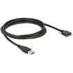 Delock USB3.0 male naar Micro-USB3.0 male adapter 2m