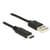 Delock Cable USB Type-C 2.0 male > USB 2.0 type A male 1 m