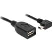 Delock mini-USB Haaks naar USB 2.0-A Vrouwelijk Adapter 0.5m