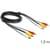 Delock 3x RCA Mannelijk Kabel 1.5 m