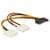 Delock SATA 15pin naar 2x 4pin Molex female adapter 20cm